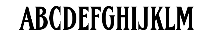 FHACondensedFrenchNC Font UPPERCASE