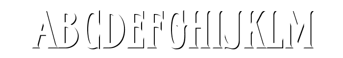 FHACondensedFrenchShadeNC Font UPPERCASE