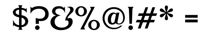 FHAModernizedIdealClassicNC Font OTHER CHARS