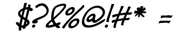 Fh_Hyperbole-BoldItalic Font OTHER CHARS