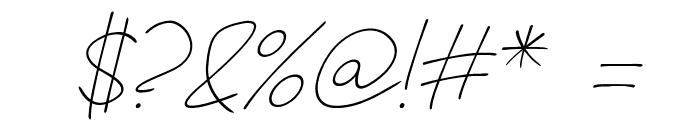 Fh_Hyperbole-LightItalic Font OTHER CHARS
