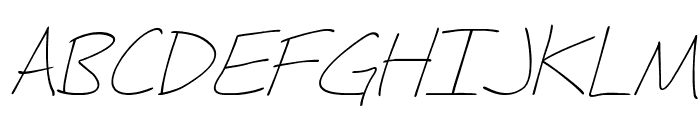 Fh_Hyperbole-LightItalic Font UPPERCASE