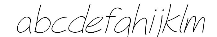 Fh_Hyperbole-LightItalic Font LOWERCASE