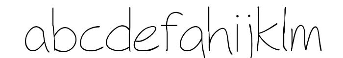 Fh_Hyperbole-Light Font LOWERCASE