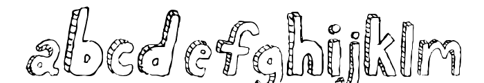 Fh_Scribble Font LOWERCASE