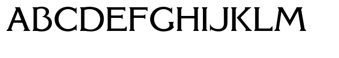 FHA Modernized Ideal Classic Normal Font UPPERCASE