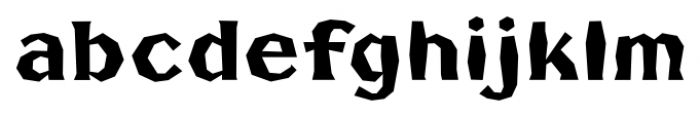 FHA Broken Gothic Busted B Font LOWERCASE