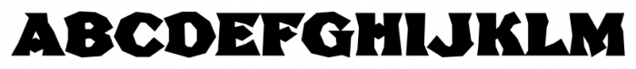 FHA Broken Gothic Busted C Font UPPERCASE