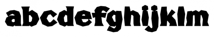 FHA Broken Gothic Busted C Font LOWERCASE