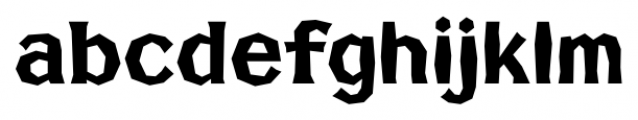 FHA Broken Gothic No2 Font LOWERCASE