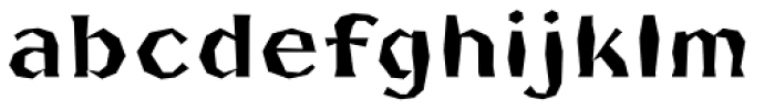FHA Broken Gothic Busted A Font LOWERCASE