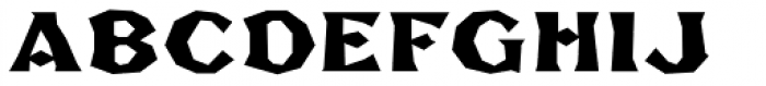 FHA Broken Gothic Busted B Font UPPERCASE