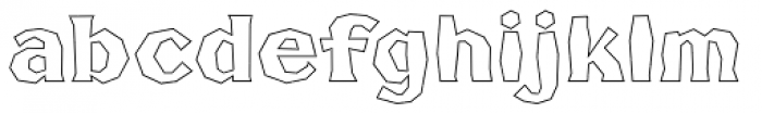 FHA Broken Gothic Busted BB Font LOWERCASE