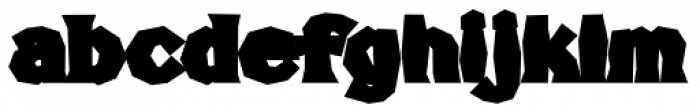 FHA Broken Gothic Busted D Font LOWERCASE
