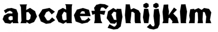 FHA Broken Gothic Poster Font LOWERCASE