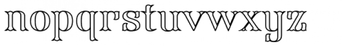 FHA Modified Tuscan Roman Open Font LOWERCASE