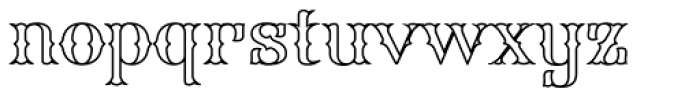 FHA Spurred Tuscan Roman Open Font LOWERCASE