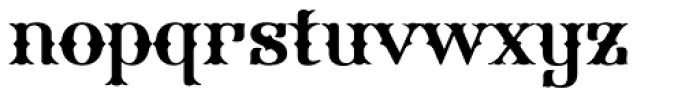 FHA Spurred Tuscan Roman Font LOWERCASE
