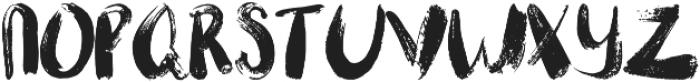 FIONA BRUSH otf (400) Font UPPERCASE