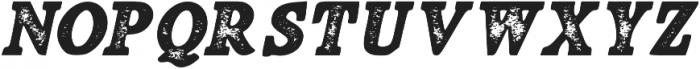 Fiber Stamp Italic otf (400) Font UPPERCASE