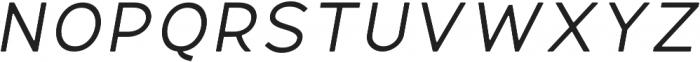 Fibon Neue Italic Round otf (400) Font UPPERCASE