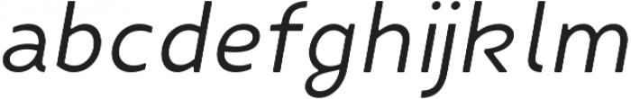 Fibon Neue Italic Round otf (400) Font LOWERCASE