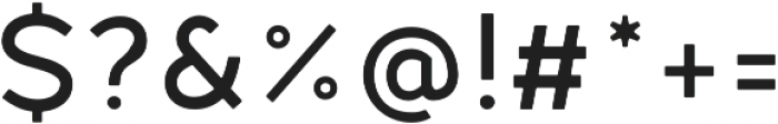 Fibon Neue Medium Round otf (500) Font OTHER CHARS