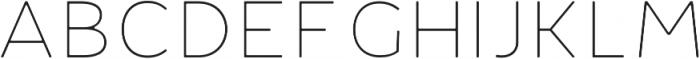 Fibon Neue Thin Round otf (100) Font UPPERCASE