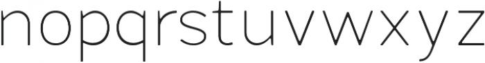 Fibon Neue Thin Round otf (100) Font LOWERCASE