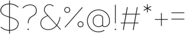 Fibon Sans ExtraLight otf (200) Font OTHER CHARS