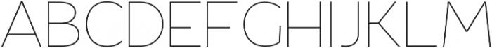 Fibon Sans ExtraLight otf (200) Font UPPERCASE