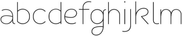 Fibon Sans ExtraLight otf (200) Font LOWERCASE