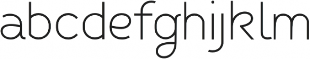 Fibon Sans Light otf (300) Font LOWERCASE