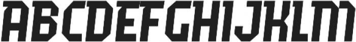 Fierro Italic otf (400) Font UPPERCASE