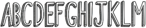Fiesta Stripy Font otf (400) Font UPPERCASE