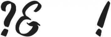 Fifties Paint Brush Regular otf (400) Font OTHER CHARS