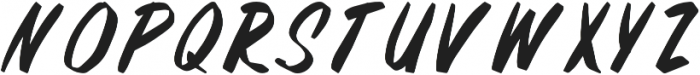 Fifties Paint Brush Regular otf (400) Font UPPERCASE