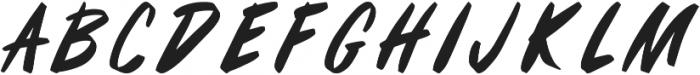 Fifties Paint Brush Regular otf (400) Font LOWERCASE