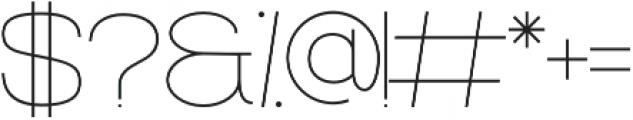 Filena Thin otf (100) Font OTHER CHARS