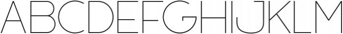 Filena Thin otf (100) Font UPPERCASE