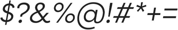 Filson Pro Book Italic otf (400) Font OTHER CHARS