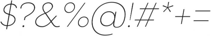 Filson Pro Thin Italic otf (100) Font OTHER CHARS