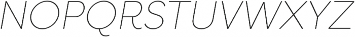 Filson Pro Thin Italic otf (100) Font UPPERCASE