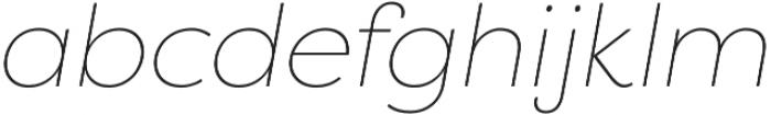 Filson Pro Thin Italic otf (100) Font LOWERCASE