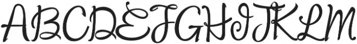 Findair Script Plain otf (400) Font UPPERCASE
