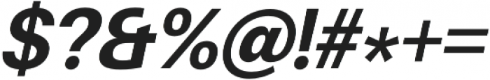 Finis Text Bold Italic otf (700) Font OTHER CHARS