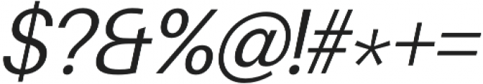 Finis Text Light Italic otf (300) Font OTHER CHARS