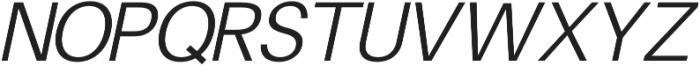 Finis Text Light Italic otf (300) Font UPPERCASE