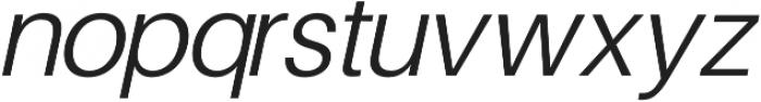 Finis Text Light Italic otf (300) Font LOWERCASE