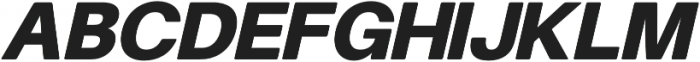 Finis Text Soft Black Oblique otf (900) Font UPPERCASE
